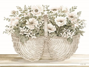 Basket of Poppies by Cindy Jacobs art print