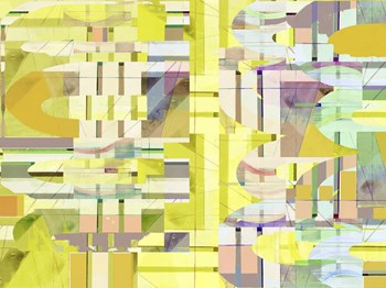 Yellow Curves II by Cartissi art print