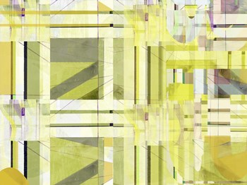 Yellow Curves III by Cartissi art print