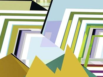 Yellow Mountains II by Cartissi art print