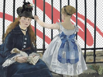 Masked Masters (Waiting At the Station) by Jacob Green art print
